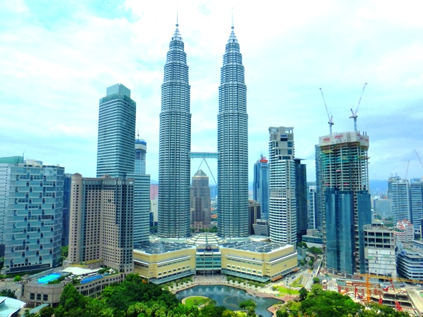 What a view - ein Blick auf die Petronas Towers in Kuala Lumpur