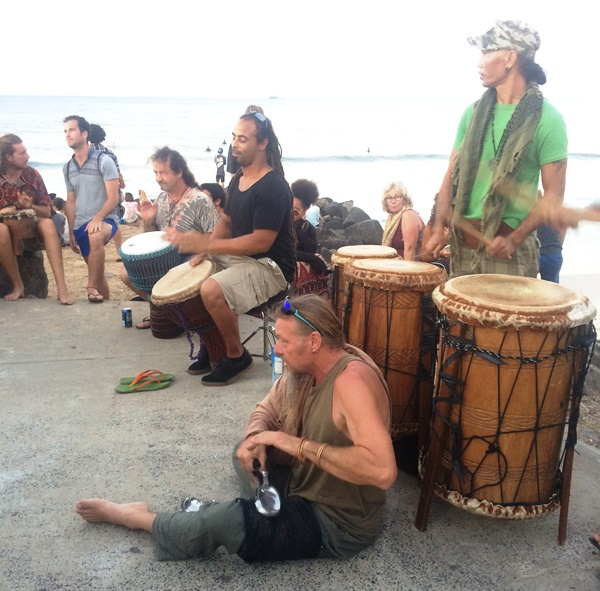 Abendlicher Drum Circle