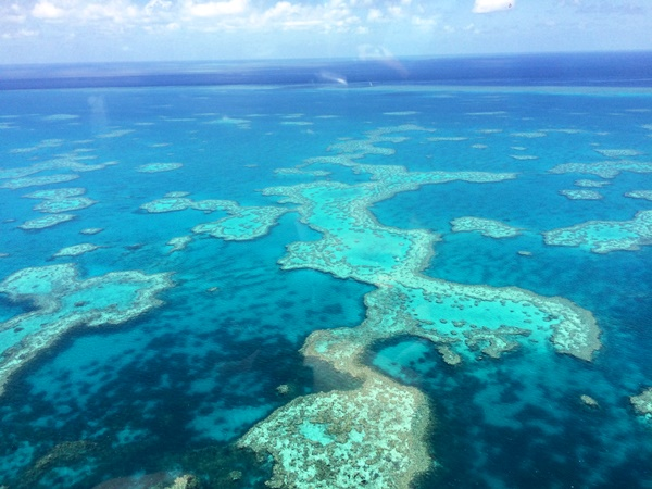 Flying the Great Barrier Reef